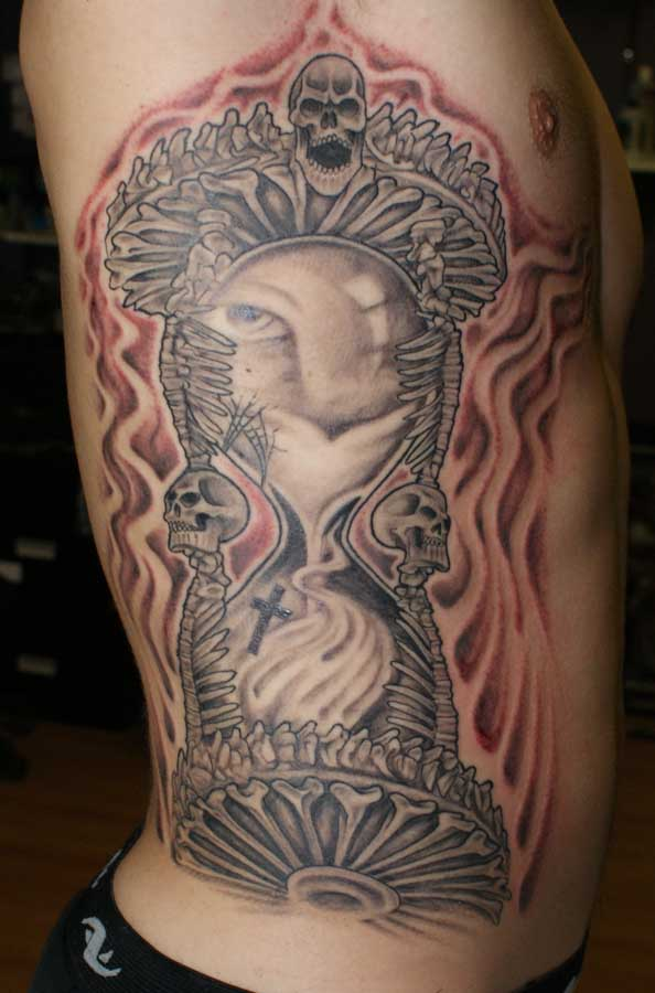 Hourglass Of Death Rites Of Passage Tattoo
