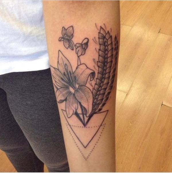 lily wheat rites of passage tattoo