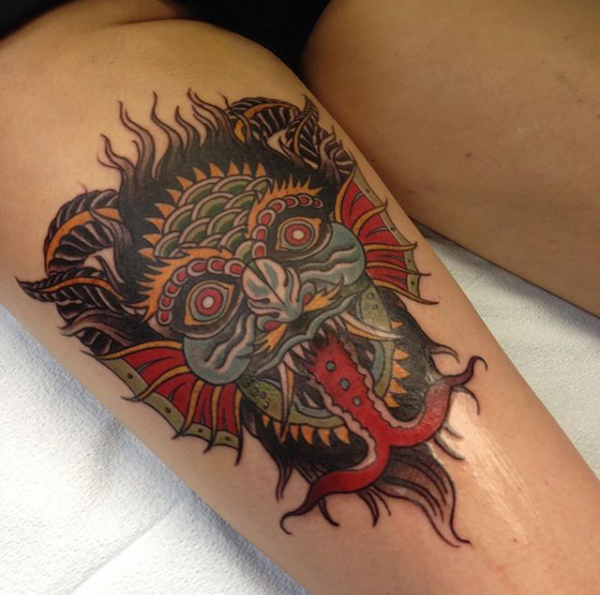 Traditional devil rites of passage tattoo for Best traditional tattoo artists