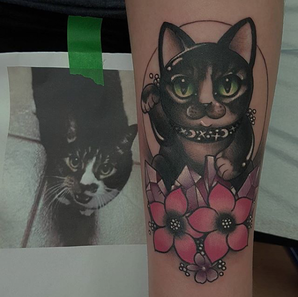 Lucky cat rites of passage tattoo for Lucky drive tattoo parlour
