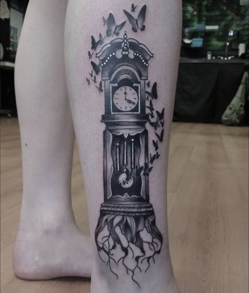 grandfather clock rites of passage tattoo