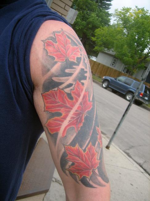Maple Leaves Rites Of Passage Tattoo