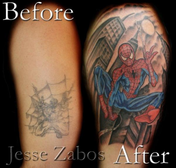 Spidey Cover Up Rites Of Passage Tattoo